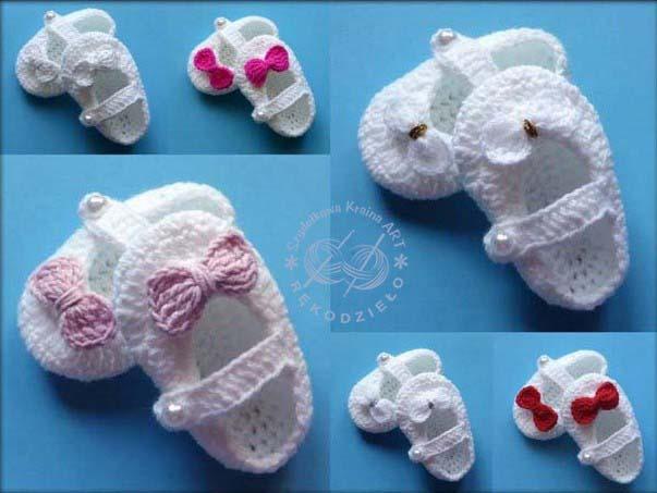 buciki szydełkowe na szydełku niechodki kapcie dla niemowlaka chłopca dziewczynki niemowlęce
