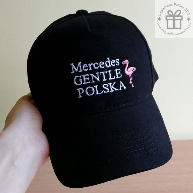 czapka dla fana mercedesa klubowicza czapki z haftem daszkiem haftowane napisem imieniem ksywką tekstem prezent prezenty