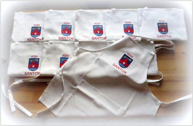 fartuch fartuchy z logo firmy haftem haftowane kuchenne dla gminy kgw restauracji bistro kawiarni cukierni
