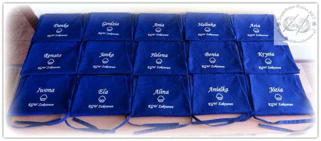fartuch fartuchy dla gminy kgw z logo firmy haftem haftowane kuchenne restauracji bistro kawiarni cukierni