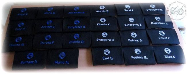 fartuch fartuchy z logo firmy haftem haftowane kuchenne do restauracji bistro kawiarni cukierni