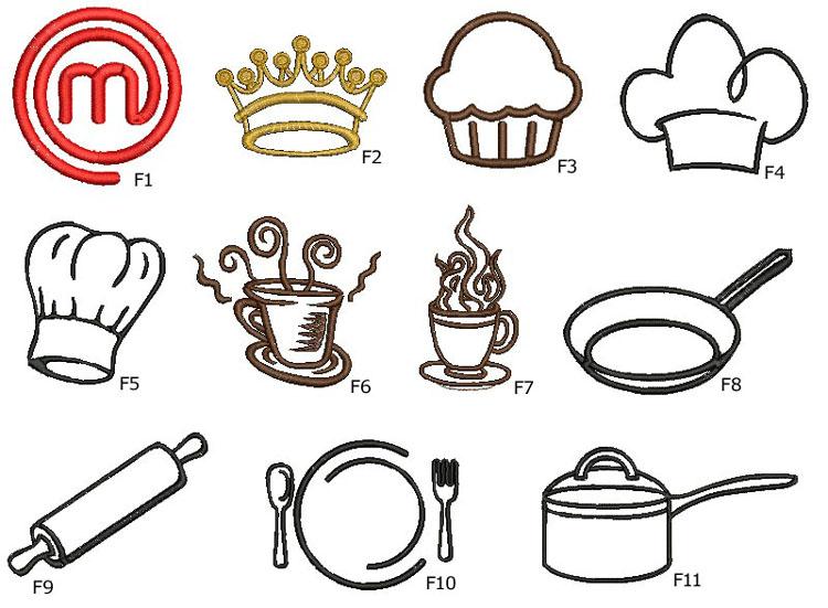 motywy kuchenne do haftu