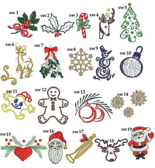 motywy świąteczne do haftu grafiki