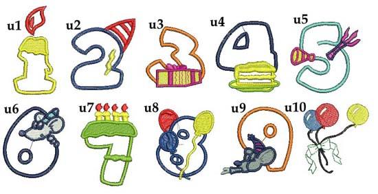 motywy urodzinowe na urodziny do haftu