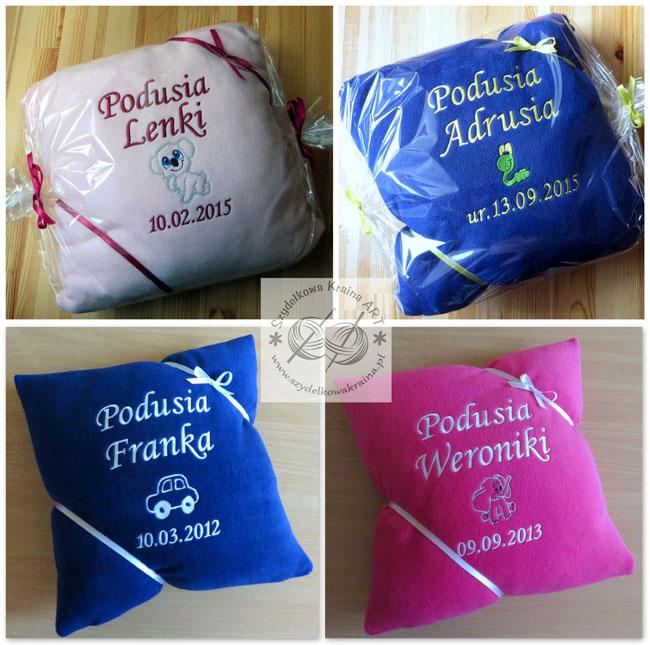 poduszki dla dzieci haftowane poduszka z napisem imieniem personalizacją na zamówienie personalizowane prezent prezenty dzień dziecka święta