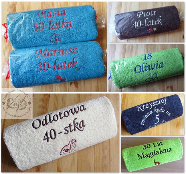 prezenty na urodziny urodzinowe ręczniki haftowane ręcznik z haftem dedykacją napisem na zamówienie