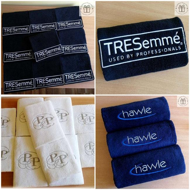 ręczniki haftowane z logo firmy