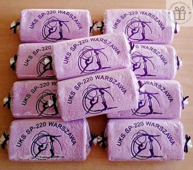 ręczniki nagrody z logo haft komputerowy