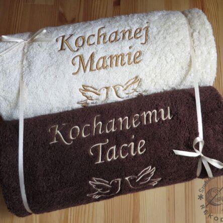 Ręcznik Z Haftem 70x140 Prezent Na ślub Podziękowania Dla