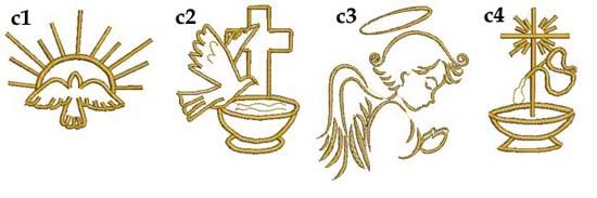 grafiki do haftu na chrzest chrzciny ręczniki z haftem