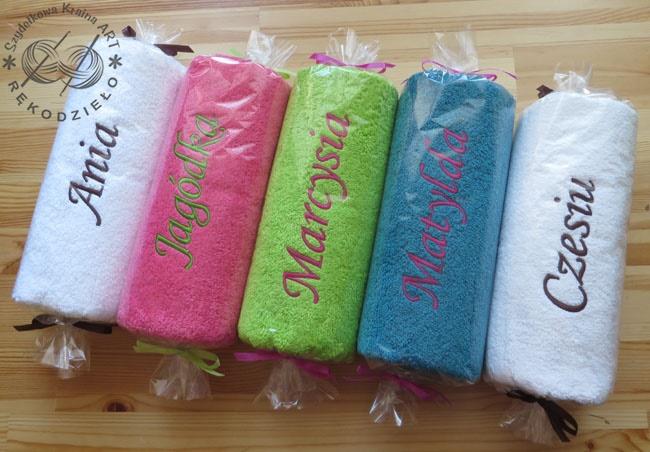 ręczniki z imionami na prezent