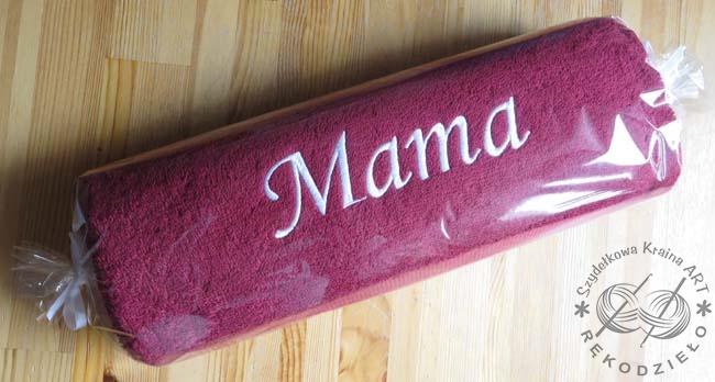 ręcznik z imieniem słowem