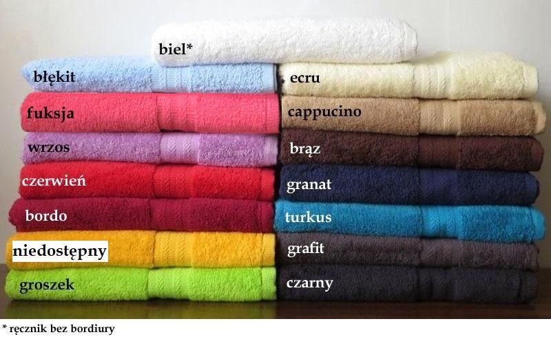 ręczniki haftowane w koszu - kolory