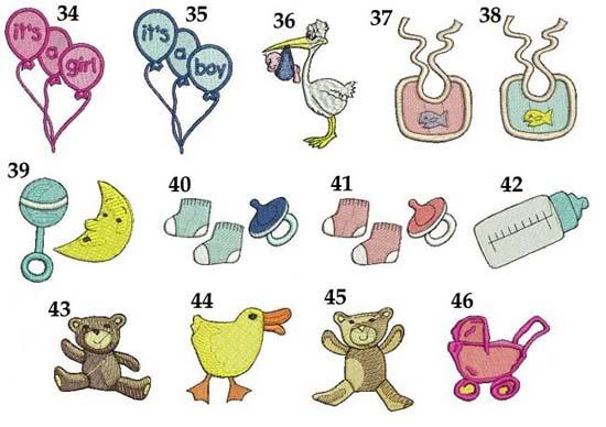 grafiki do haftu na narodziny roczek dla dzieci ręczniki z haftem