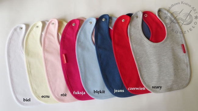 kolory śliniaków do wyboru szydelkowakraina