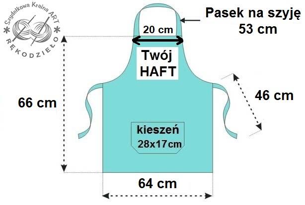 wymiary fartucha - szydelkowakraina