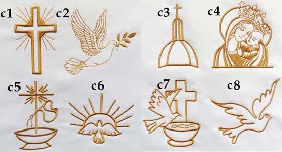 pamiątka I komunii świętej ramka haftowana komunijna - grafiki