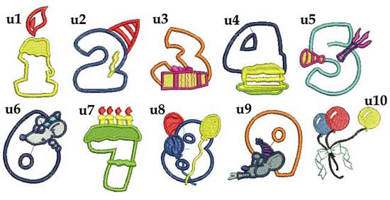 grafiki do haftu urodzinowe ręczniki z haftem